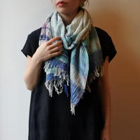 [tamaki niime 20SS-039 ] print shawl BIG コットン100%
