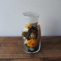 Botanical  glass cylinder arrange  005