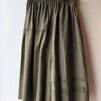 [tamaki niime] wide pants-short  WP-S-khaki
