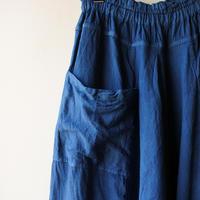 [tamaki niime]  きぶんシリーズ tarun pants-long(藍) KI8-TPL
