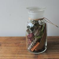 Botanical  glass cylinder arrange  004