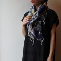 [tamaki niime 20SS-045 ] print shawl MIDDLE コットン100%