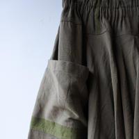 [tamaki niime]  きぶんシリーズ tarun pants-long(khaki)KI9-TPL
