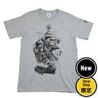 〔予約販売2020年1月下旬〜2月初旬発送予定〕[YokaiShop限定Ver]悪魔くん 見えない学校 T-Shirts Color  グレー