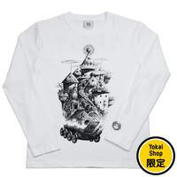 〔予約販売2020年8月初旬〜8月中旬発送予定〕[YokaiShop限定Ver]悪魔くん 見えない学校 ロングスリーブ T-Shirts Color  ホワイト