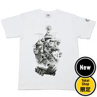 〔予約販売12月下旬〜1初旬発送予定〕[YokaiShop限定Ver]悪魔くん 見えない学校 T-Shirts Color  ホワイト