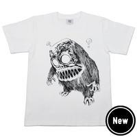 〔予約販売2021年2月下旬〜3月上旬発送予定〕墓場の鬼太郎 妖怪獣 T-Shirts Color  ホワイト