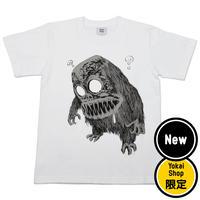 〔予約販売2020年12月下旬〜2021年1月上旬発送予定〕[YokaiShop限定Ver]墓場の鬼太郎 妖怪獣 T-Shirts Color  ホワイト