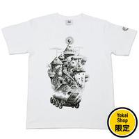 〔予約販売2020年9月中旬〜9月下旬発送予定〕[YokaiShop限定Ver]悪魔くん 見えない学校 T-Shirts Color  ホワイト