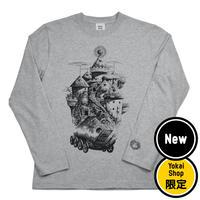 〔予約販売2020年4月下旬〜5月初旬発送予定〕[YokaiShop限定Ver]悪魔くん 見えない学校 ロングスリーブ T-Shirts Color  グレー