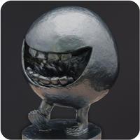 水木しげるロード妖怪ブロンズ像レプリカミニフィギュア[べとべとさん] YokaiShop限定シルバー