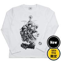〔予約販売2020年4月下旬〜5月初旬発送予定〕[YokaiShop限定Ver]悪魔くん 見えない学校 ロングスリーブ T-Shirts Color  ホワイト