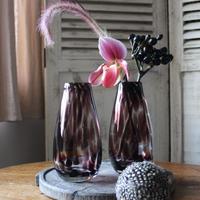 ≪nd-gl-dv-pu≫ Nordal deco vase / purple H17cm