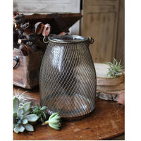 ≪ibl-ltn-l≫ Ib Laursen Lantern w/mesh around glass L