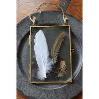 ≪nd-mf-gd-hg≫ Nordal Metal frame, hanging, gold, feather