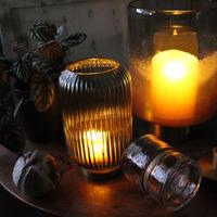 ≪bv-gl-lntn-glbrs-gr≫Bloomingville Glass lantern / green   H20cm