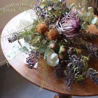 ≪ds-645≫ワイルドフラワーと紫陽花のボタニカルスワッグ