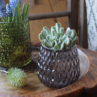 ≪blmv-gl-gy≫Bloomingville BoHo-chic Votive Glass H10cm / dark grey