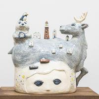 谷村仁美 陶作品「おはようの前に」