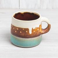 エヴァーソン朋子 陶作品「マグカップ パターン柄」