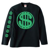 """""""$""""OBUT  LONG Tシャツ BLACKxGREEN"""