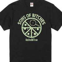 """PIZZA CIRCLE""Tシャツ BLACK"