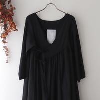 the last flower of the afternoon ザ ラスト フラワー オブ ジ アフタヌーン | 追懐のcache-coeur dress | ブラック