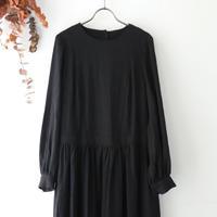 the last flower of the afternoon ザ ラスト フラワー オブ ジ アフタヌーン | 翳りゆく午後のgather one-piece dress | ブラック