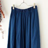 the last flower of the afternoon ザ ラスト フラワー オブ ジ アフタヌーン | 紺青のgather skirt | インディゴ
