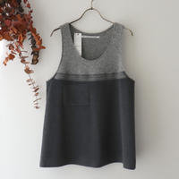 TENNE HANDCRAFTED MODERN テン ハンドクラフテッド モダン | WEAVE AND  KNIT VEST | ライトグレー