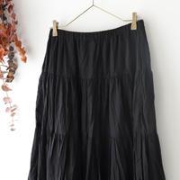 Veritecoeur ヴェリテクール | 切替ギャザースカート | ブラック