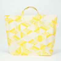 【MIKAMI】帆布ショッピングバッグ Z044 ボーダートライイエロー