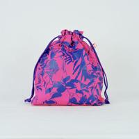 【MIKAMI】ナイロン 巾着バッグ Z051 ピンク&ネイビー