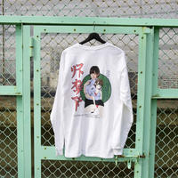 LONELY/論理 SAKURAMANA S.O.D. Long Sleeve T-shirt  -white-