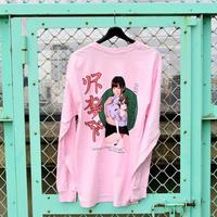 LONELY/論理 SAKURAMANA S.O.D. Long Sleeve T-shirt  -pink-