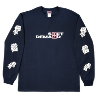 SOD Long Sleeve T-shirt feat.SOXSOCK  NAVY