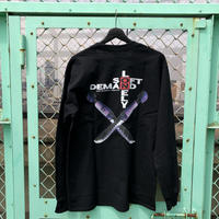 LONELY/論理 OTONA NO WEAPON Long Sleeve T-shirt -Black-