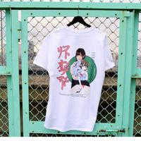 LONELY/論理 SAKURAMANA S.O.D T-shirt -white-