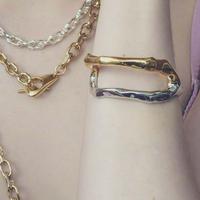 Asymmetry metal bangle  (mix color)