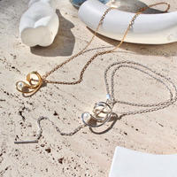 Neo coil pearl necklace (1P)