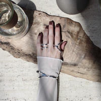 Asymmetry metal frame ring (one color)