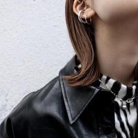Halo hoop pierce (Medium/2P) / Silver