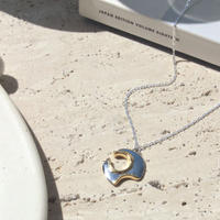 Moon surface necklace (1P/mix color)