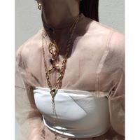 Asymmetry metal necklace (Short)