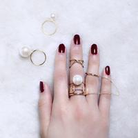 Custom pearl ring (3P set)