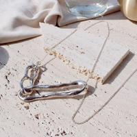 Bit motif necklace