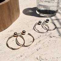 Art screw pierce / Large (2P)