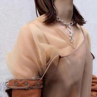 Clip large necklace