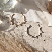 Organic pearl bangle