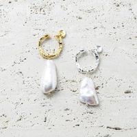 Baroque pearl earcuff (1P)